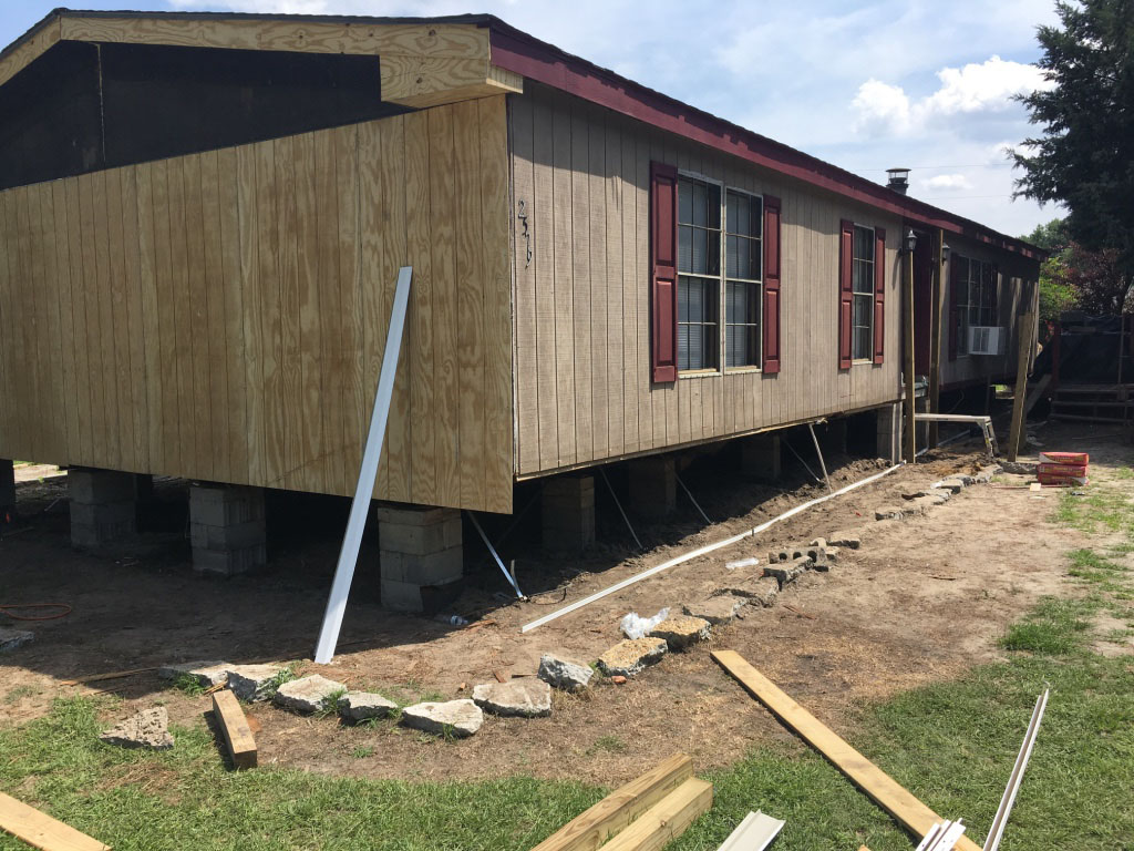 Residence in Kinston being repaired by K.A.R.E.